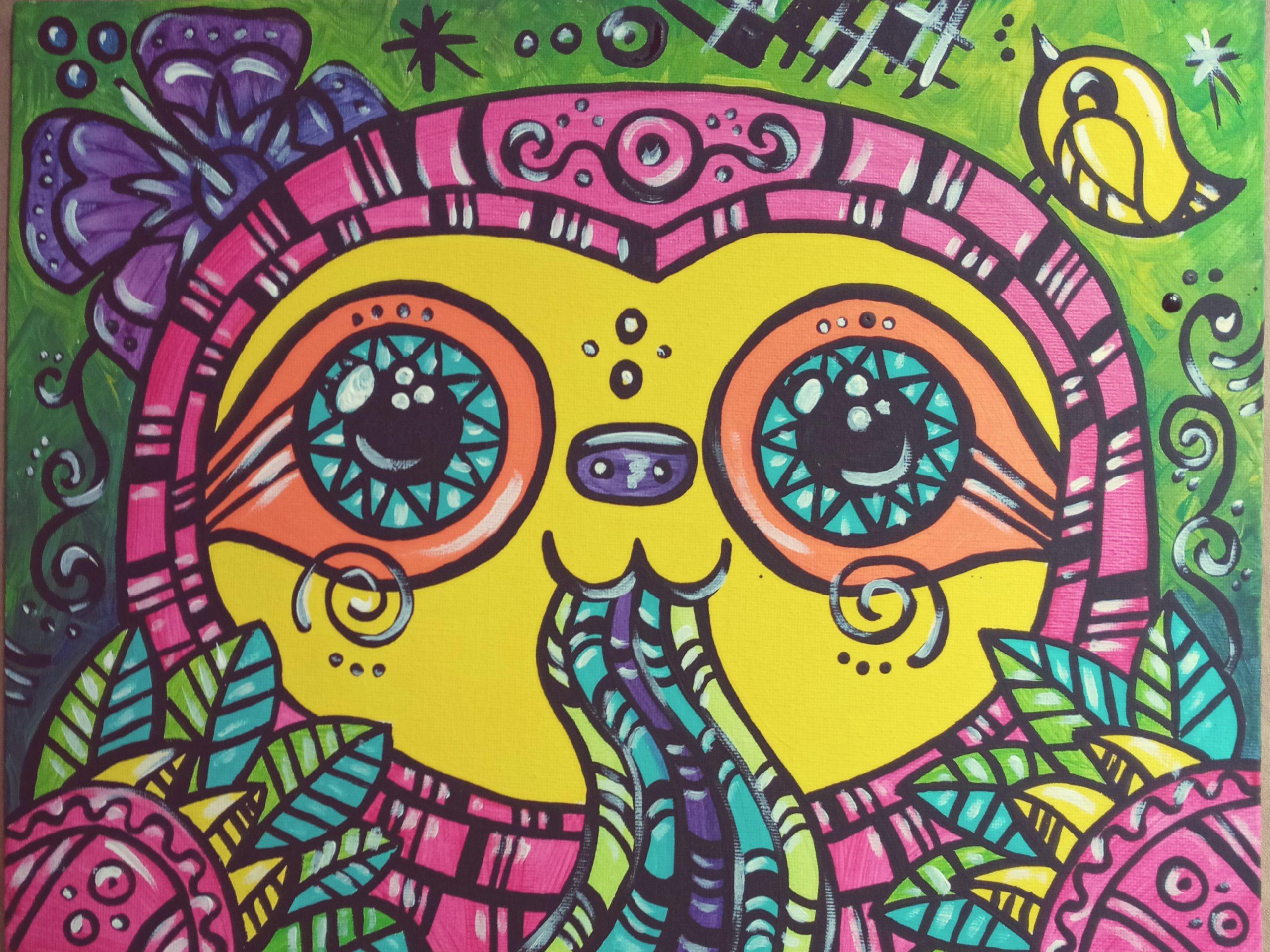 sloth art