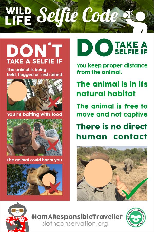 wildlife selfie code
