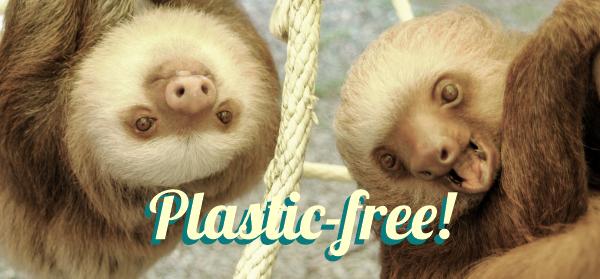 plastic-free sloths