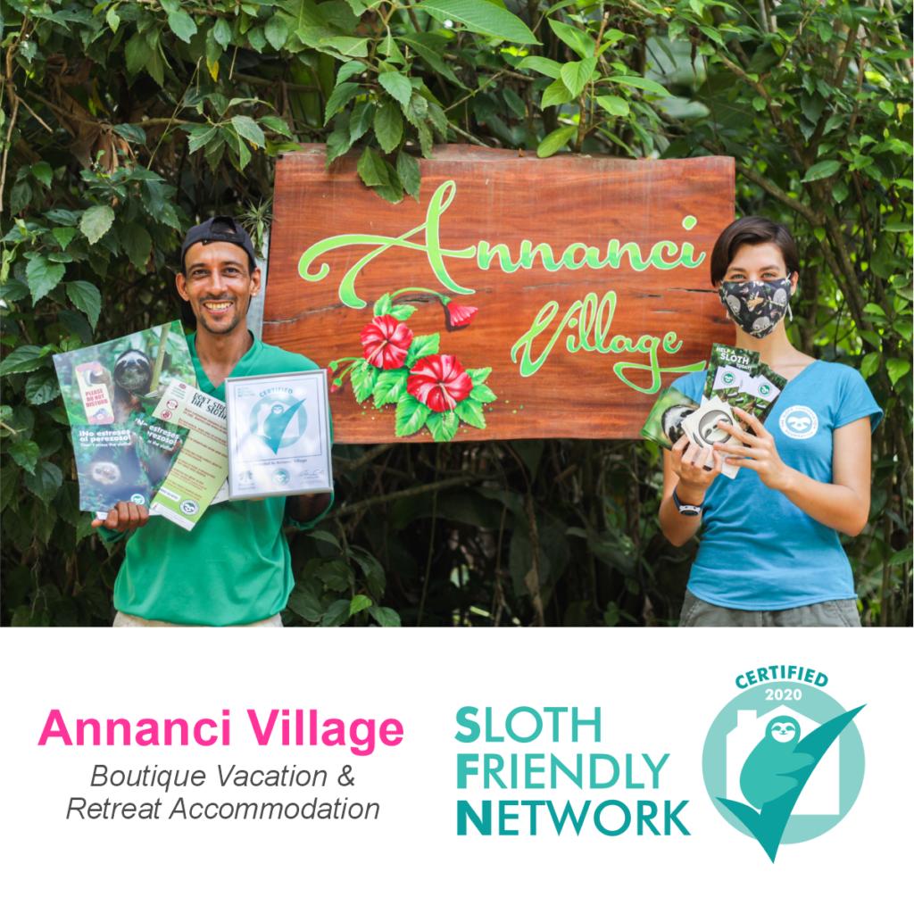 sloth-friendly tourism Costa Rica Annanci Village