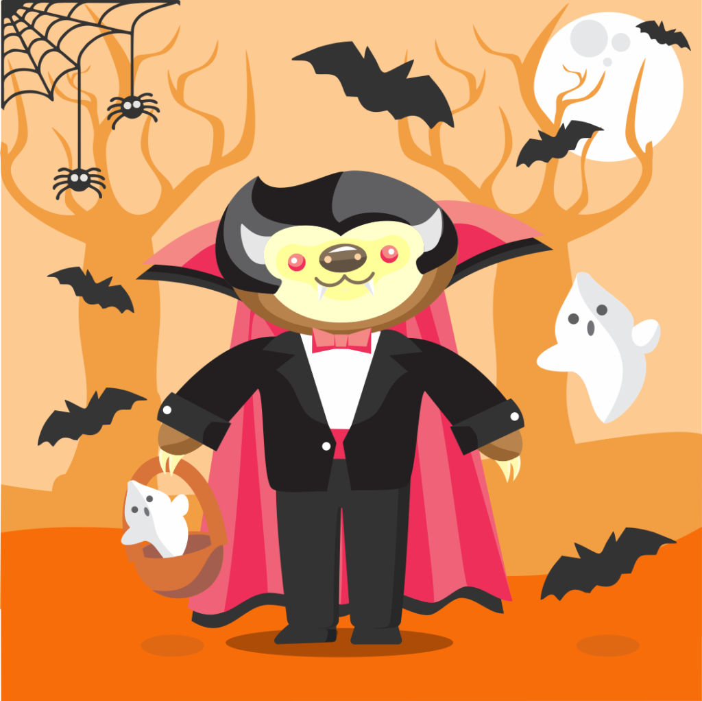 spooky sloth halloween